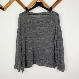 EILEEN FISHER grey long sleeve knit top✨szM